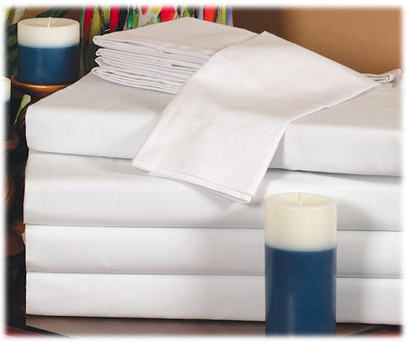 Thomaston Mills 180 Ct. White Sheets- 6/Pack Size
