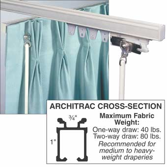 "Architrac Baton Draw ""Ceiling Mount"" Drapery Track"