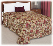 Trevira Quilted Polyester Bedspread Seasons Tan