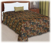 Trevira Quilted Polyester Bedspread; Symphony