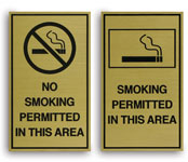Engraved No Smoking & Smoking Permitted Signs