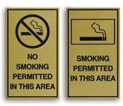 Engraved No Smoking & Smoking Permitted Signs