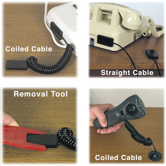 Adhesive Hotel Room Security Cable Attachment System
