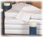 Thomaston Mills 180 Ct. White Sheets & Pillowcases