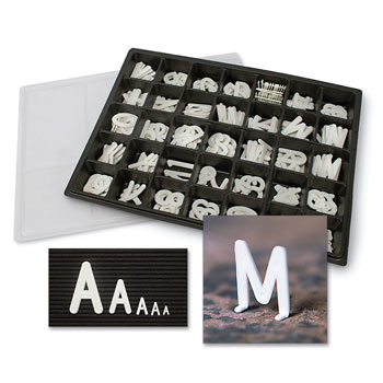 Changeable Letters w/Storage Box