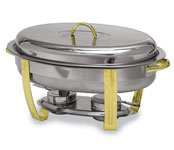 Deluxe Gold-accented Lift-top Chafing Dish