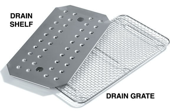 Steam Table Pan Drain Shelves & Grates