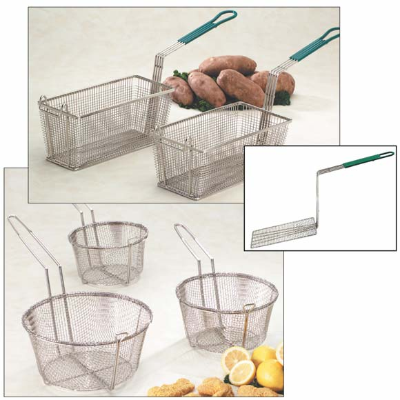 Nickel Plated Wire Fry Baskets