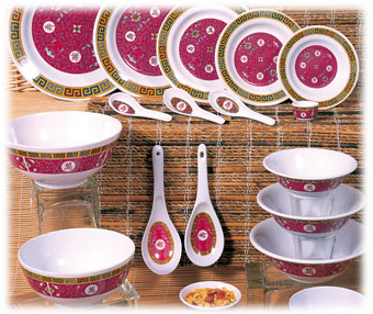 Asian Themed Melamine Dinnerware