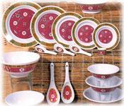 Oriental Themed Melamine Dinnerware