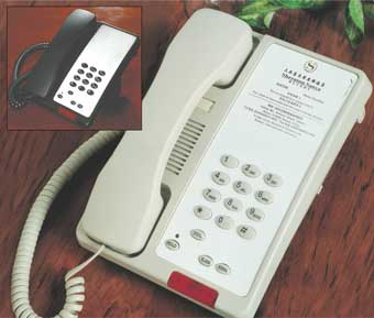 Electronic Hotel Room Telephones
