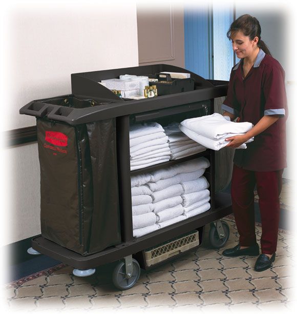 Rubbermaid Platinum Housekeeping Cart Janitorial Items