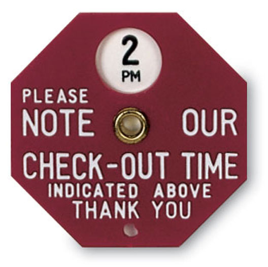 Check-out Time Indicators