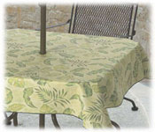 Flame Retardant Vinyl Tablecloths; 8 Ga.