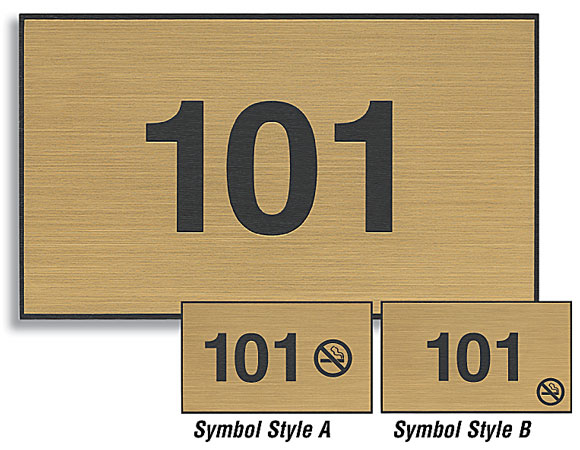 3x5 Custom Engraved Plastic Door Number Signs