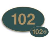 Engraved Plastic Door Number Signs; 3