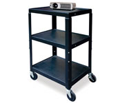 Jumbo Height Adjustable A/V Cart; Adjusts 26