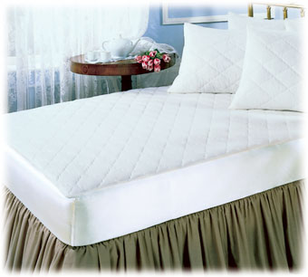 Quilted Mattress Pads; Fitted Style