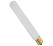 25W Frost Inter Base Tubular Bulb; 25/pk.