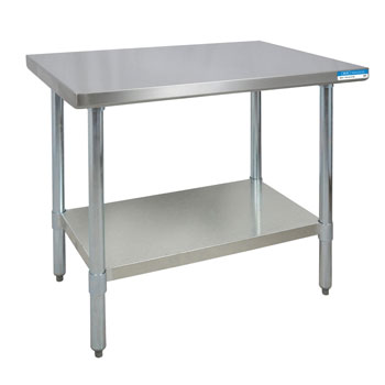 BK 18ga Stainless Steel Table with Stainless Steel Legs