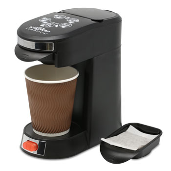 1 Cup Pod Coffee Maker Black - 8 oz. Capacity