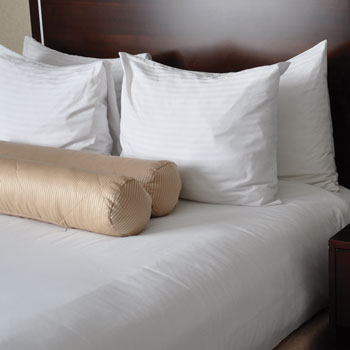LodgMate 250 ct. White Bed Sheets & Pillowcases