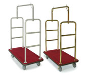 Heavy-Duty Luggage Carriers - Chrome & Brass
