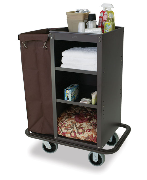 Deluxe Compact Metal Housekeeping Cart