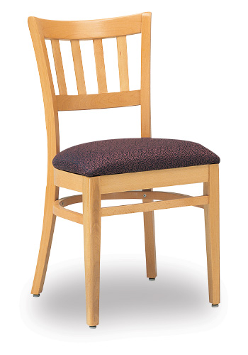Wood Restaurant Chair; Upholstered Seat