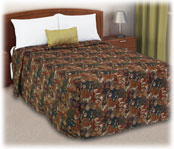 Trevira Quilted Polyester Fitted Style Bedspreads Symphony