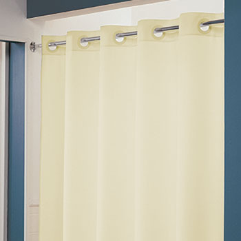 "LodgMate Pre-Hooked Polyester Shower Curtain 71"" x 74"""