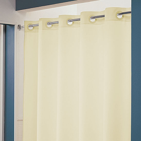 """LodgMate Pre-Hooked Polyester Shower Curtain 71"""" x 74"""""""