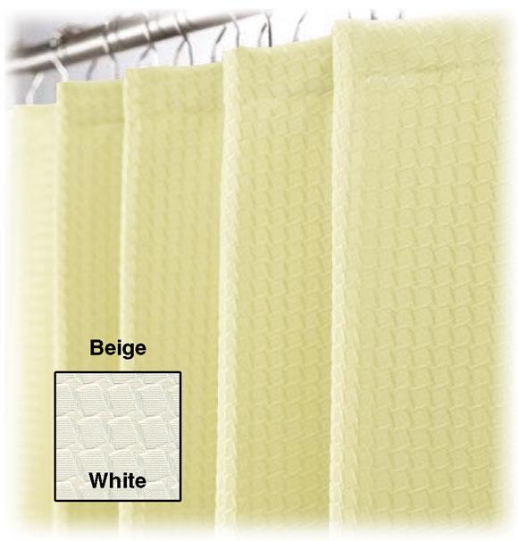 "LodgMate Jacquard Shower Curtain 71"" x 71"""