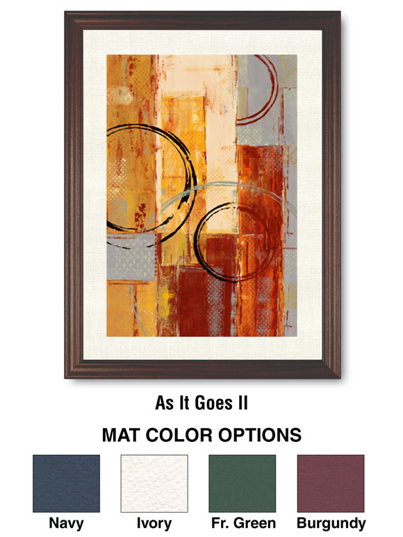 "32x42"" Framed Art; Single Mat; As It Goes II"