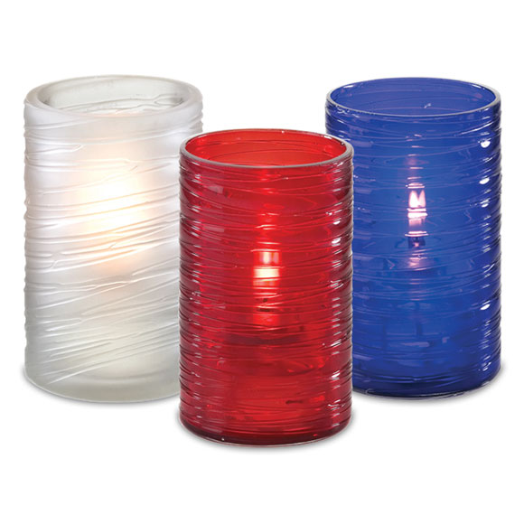 Swirl Textured Candle Lamp