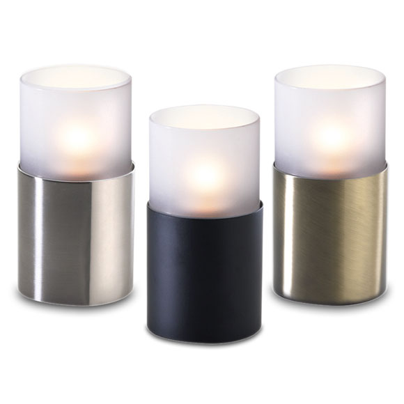 Glass Cylinder Variable Base Candle Lamp