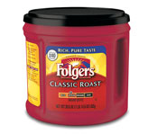 Folgers Coffee - Regular or Decaffeinated