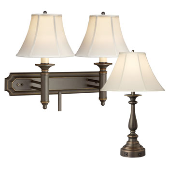 Oil Rubbed Bronze Lamps; Madison Collection
