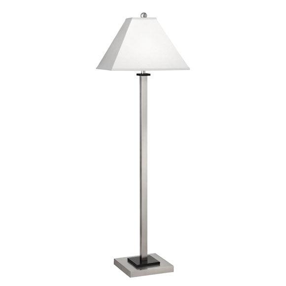 Brushed Steel Lamps Square Post Collection