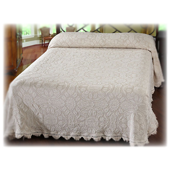 Colonial Rose Loom-Woven Bedspreads