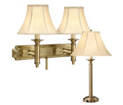Sopisticated Satin Brass Lamps