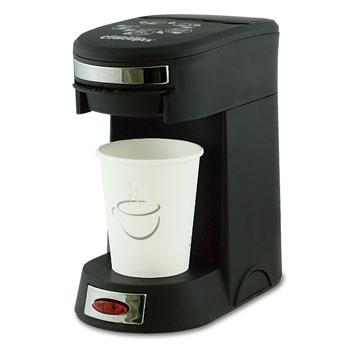- 1 Cup Pod Coffee Maker; Black