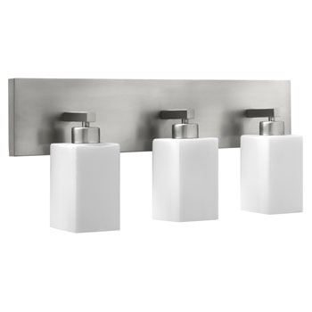 Brushed Steel Vanity Sconces