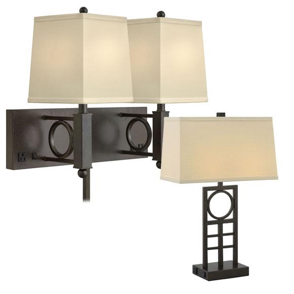 Hammertone Geometrics Lamp Collection