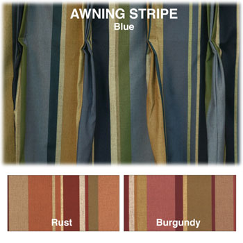 100% Polyester Custom Draperies; Awning Stripe