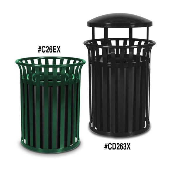 Streetscape Outdoor Trash Receptacles National