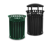 STREETSCAPE OUTDOOR TRASH RECEPTACLES
