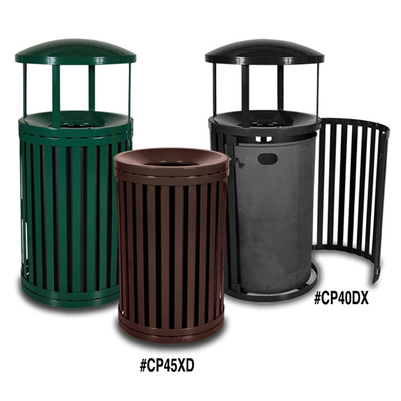 East Hampton Outdoor Trash Receptacle