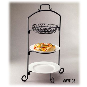 Round Wire Buffet Servers w/Platters, Baskets, Plates