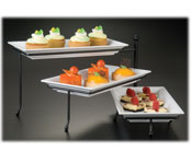 3-Tier Foldable Stand w/ Platters 17 5/8